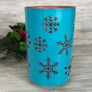Snowflake Candle Holder Turquoise Winter Holiday